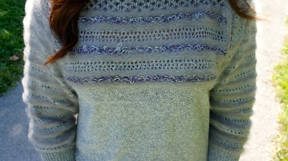 Sweater details, look at though fuzzy sleeves.